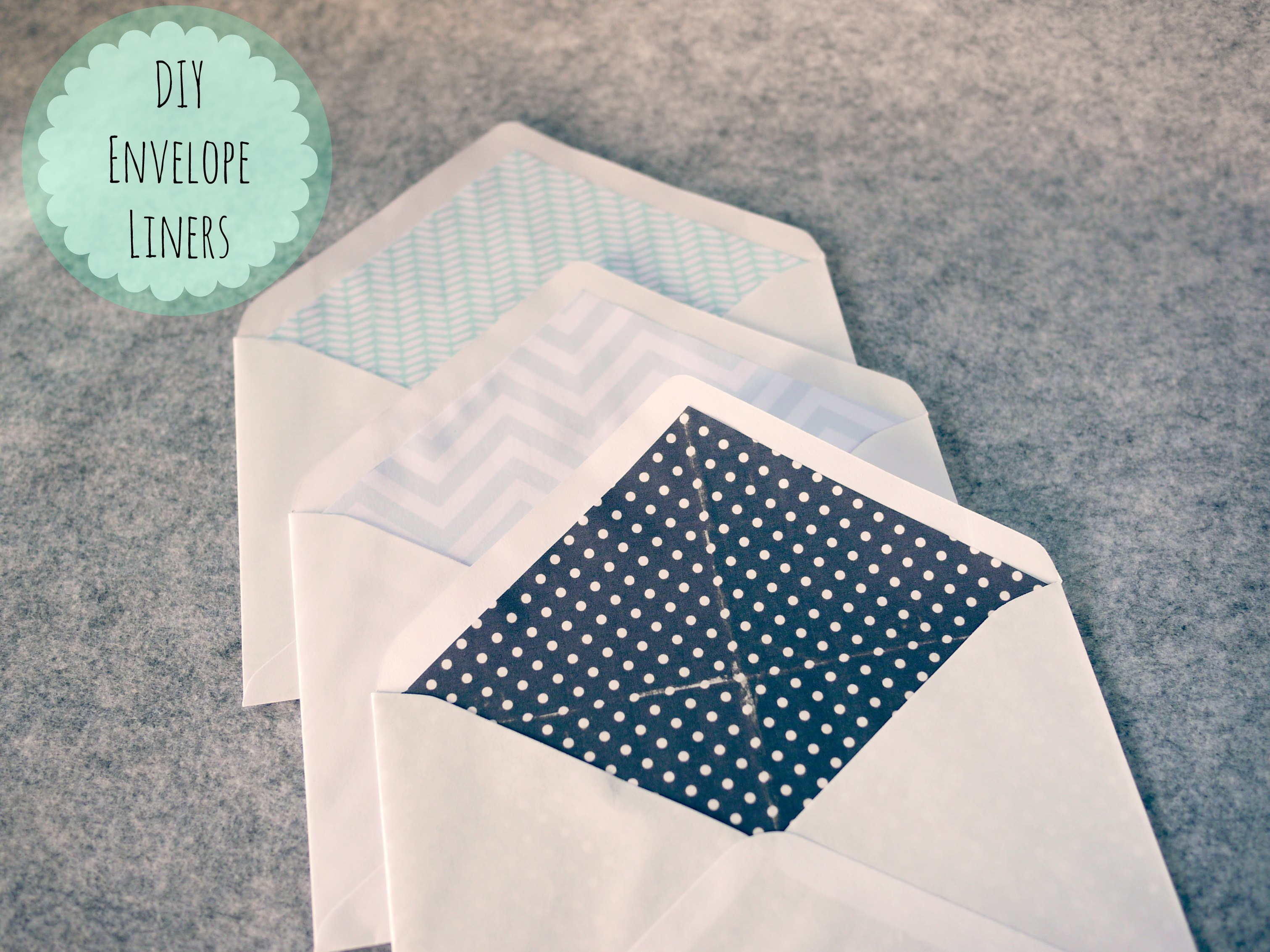 DIY Envelope Liners – MONO and CO