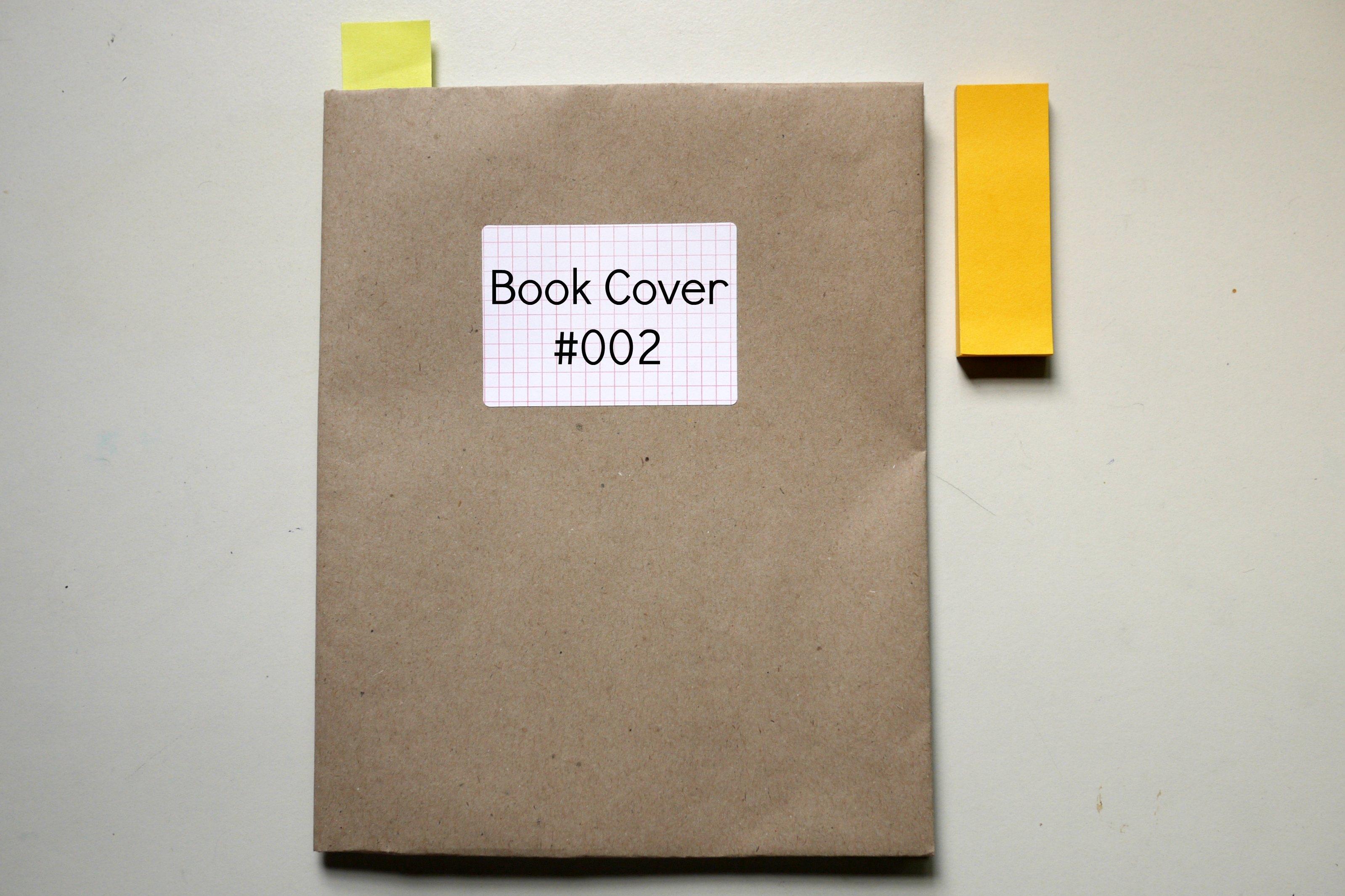 Paper Book Cover Ideas : Diy book cover mono and co