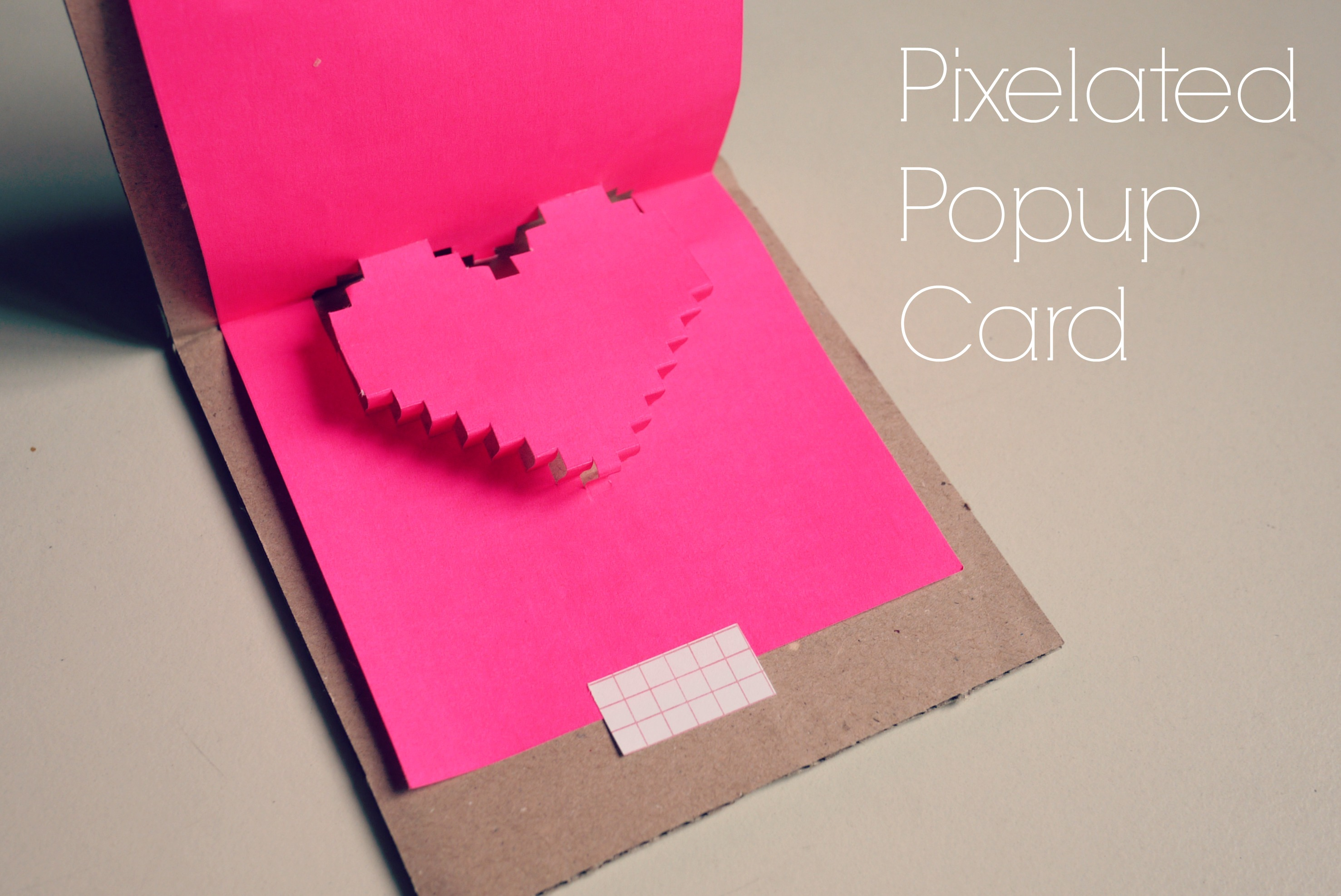 Pixelated Popup Card Mono And Co