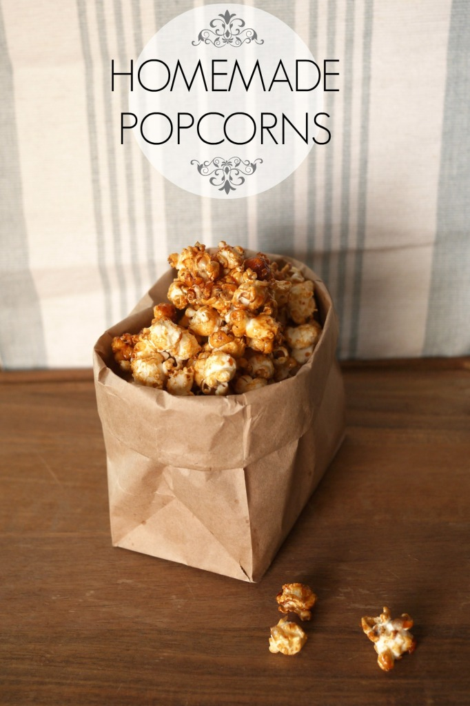 homemade caramel popcorns // mono+co