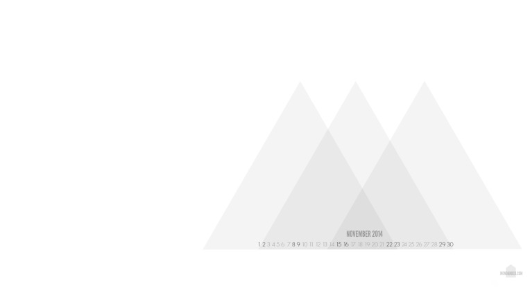 Desktop Wallpaper Calendar Nov 2014 // mono+co