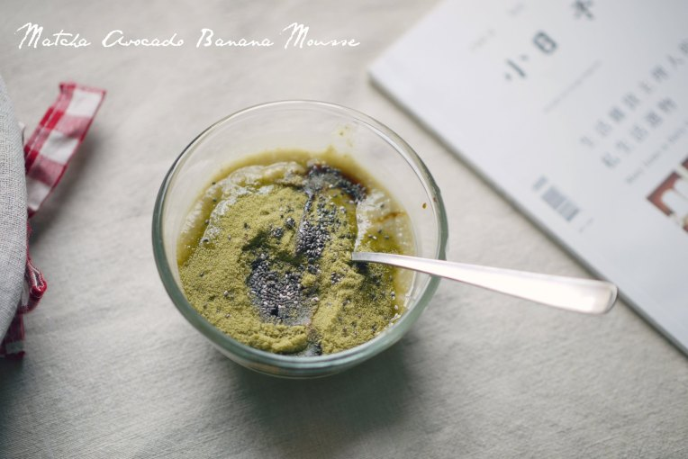 matcha avocado banana mousse 001a