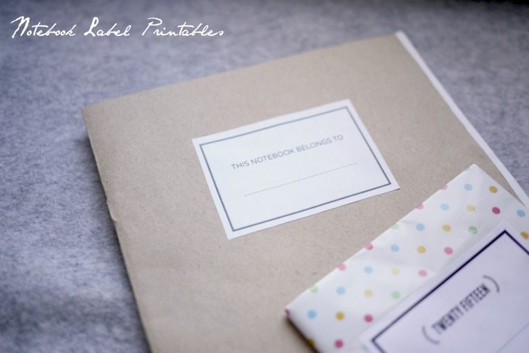 notebook label printables