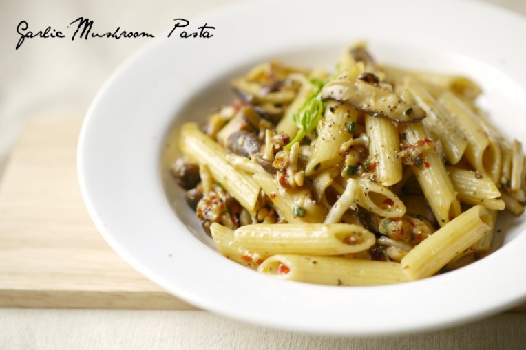 garlic mushroom pasta 001