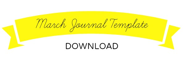 March Journal Printable Download