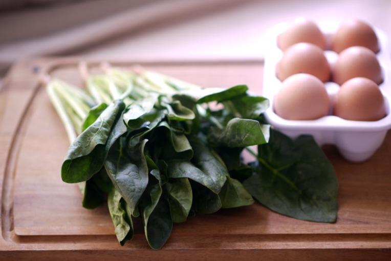 spinach mushroom frittata 002