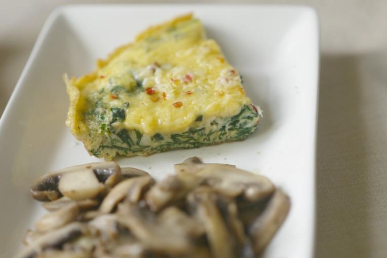 spinach mushroom frittata 005