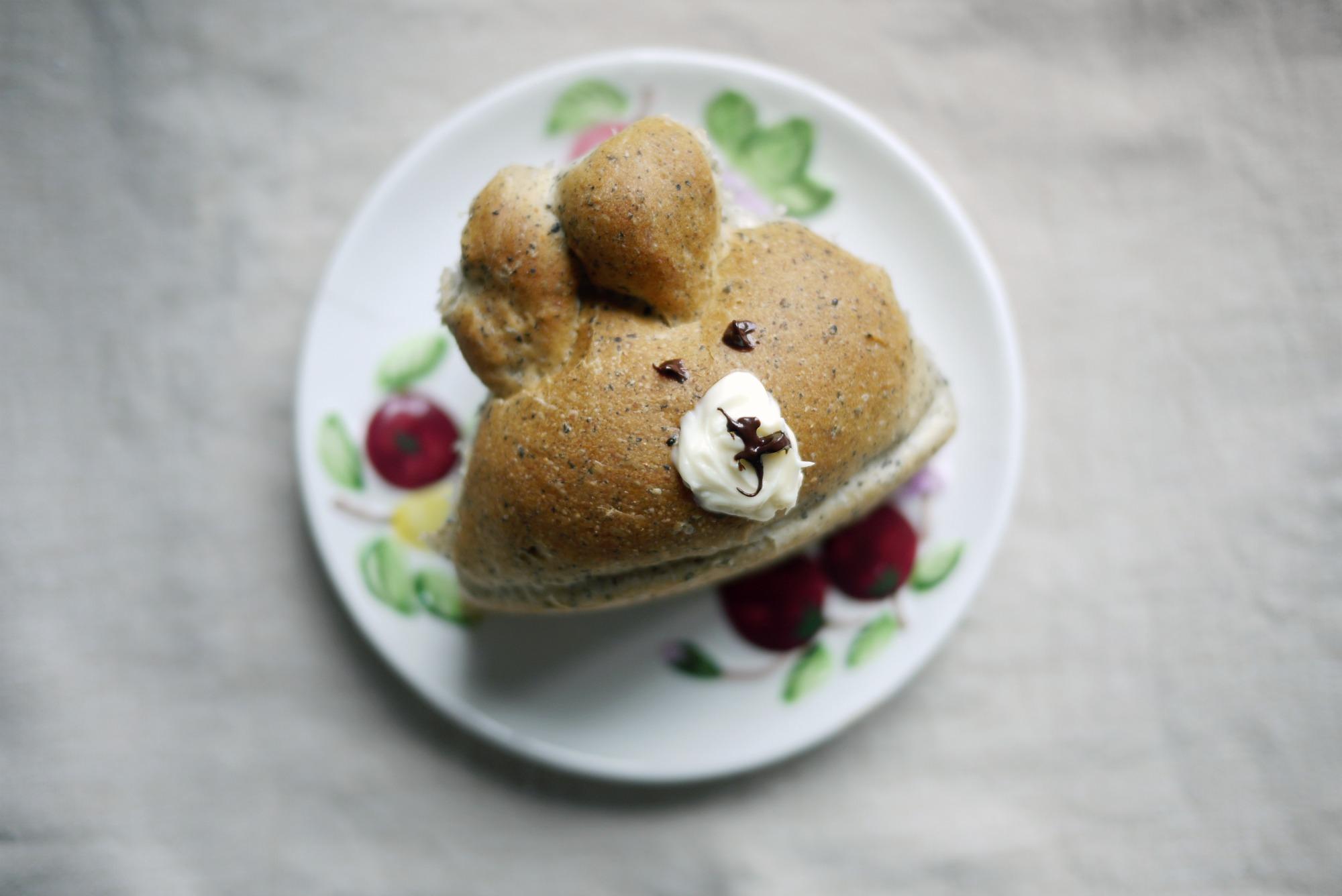 3d Chigiri Bread Black Sesame Soft Rolls Mono And Co