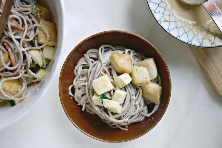 sesame mayo buckwheat noodles 002