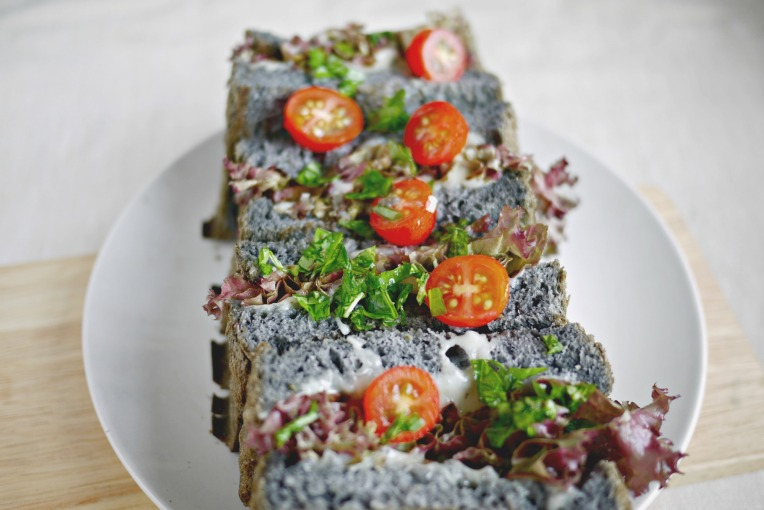 Bamboo Charcoal Potato Bread Loaf // Mono+Co