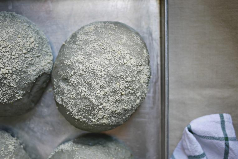 Charcoal Potato Grated Cheese Buns // Mono+Co