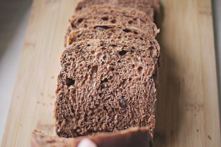Chocolate Raisin Potato Bread Loaf // Mono + Co