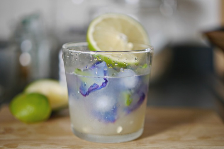 Blue Butterfly Pea Flower Lemonade // Mono + Co
