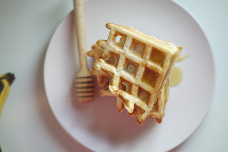 Browned Banana Belgian Waffles // Mono + Co